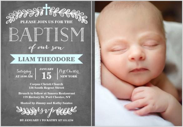 baby baptism invitations