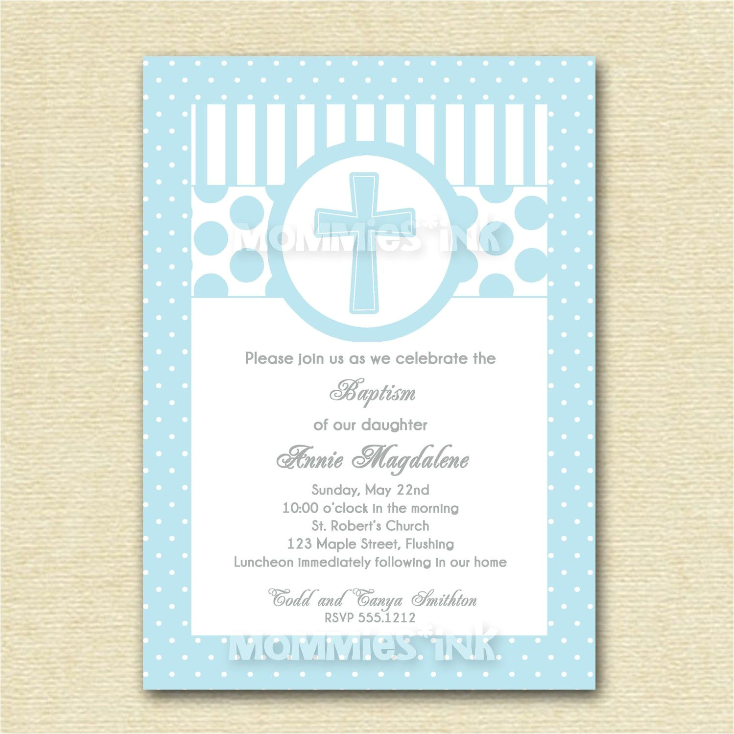 catholic baptism invitation wording samples
