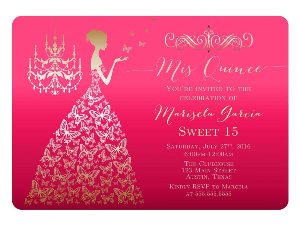 quinceaneras invitations