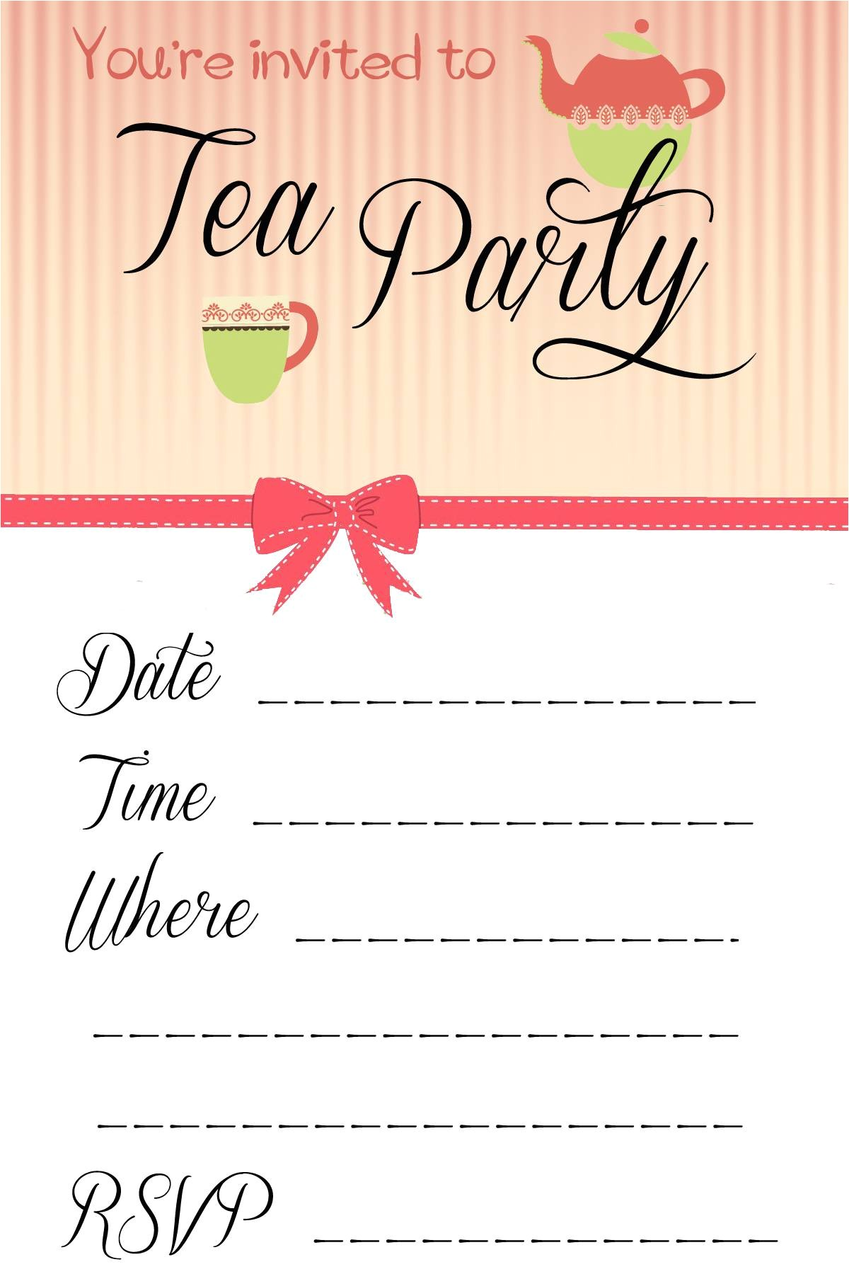 party invite template