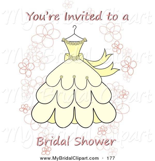 wedding shower invitation cliparts