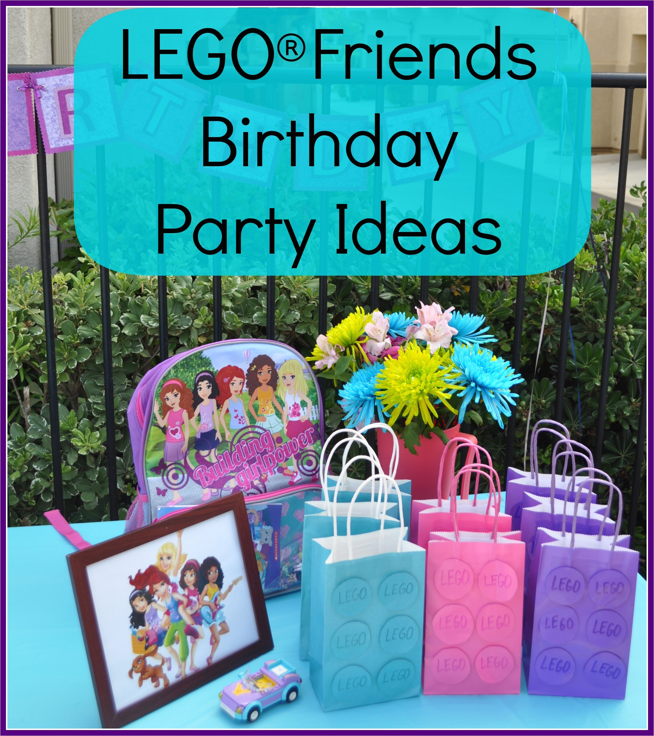lego friends birthday party invitations