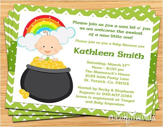st patricks day irish baby shower