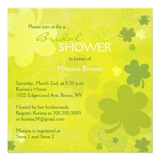 irish bridal shower invitations