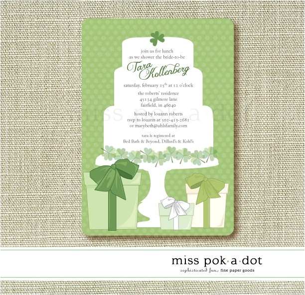 bridal shower invitations irish