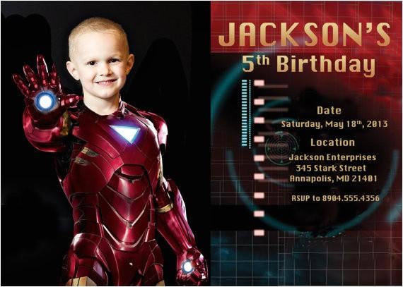iron man birthday party invitation