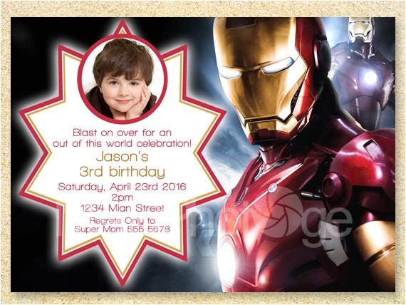 iron man printable birthday invitation