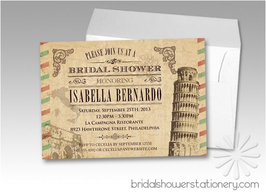 Italian Bridal Shower Invitations Love these Vintage Italian Bridal Shower Invitations