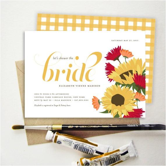 tuscan sunflower bridal shower
