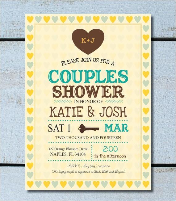 bridal shower invitations jack and jill