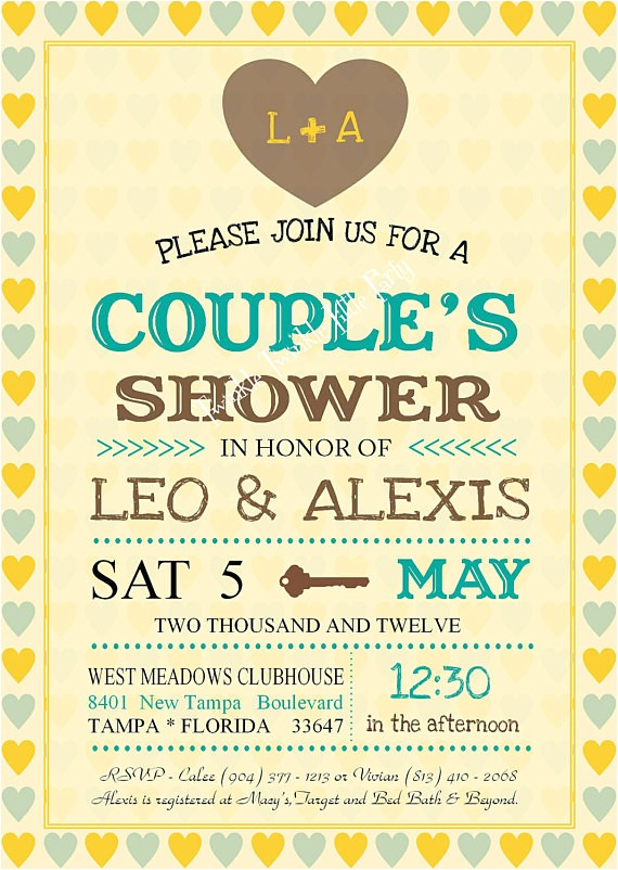 couples bridal shower invitations free
