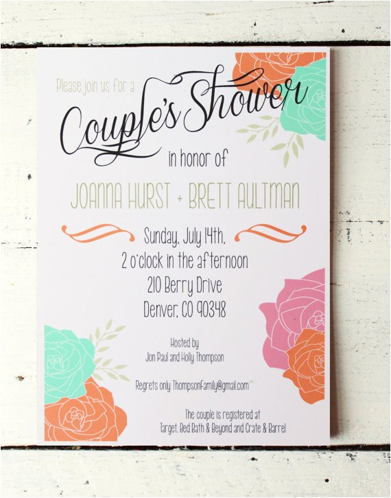 couples wedding shower invitations jack