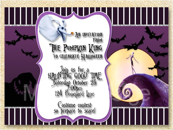 jack skellington invitation nightmare
