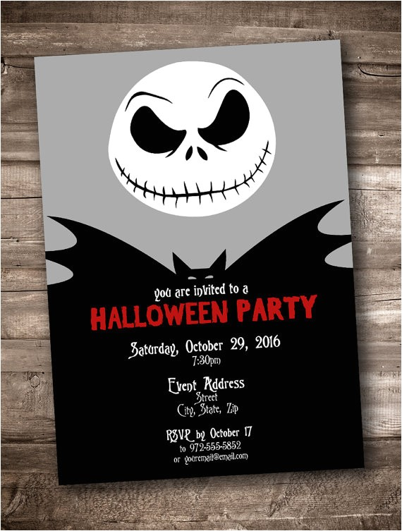 jack skellington party invitation