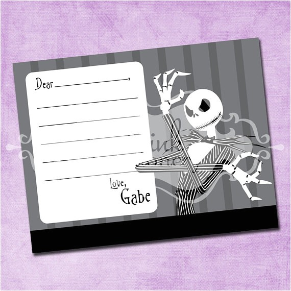 jack skellington thank you card