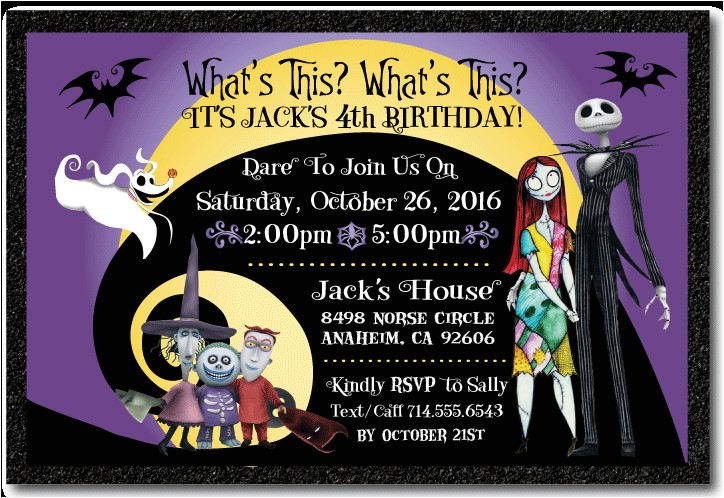 nightmare before christmas birthday invitation p 2282
