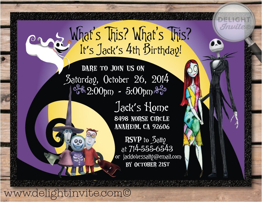 nightmare before christmas birthday