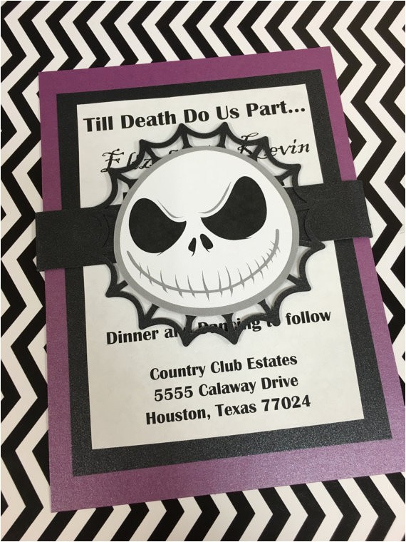 nightmare before christmas invitations