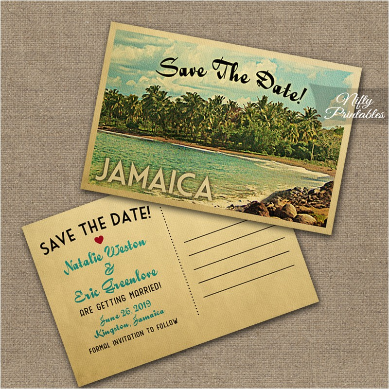 jamaica wedding invitation