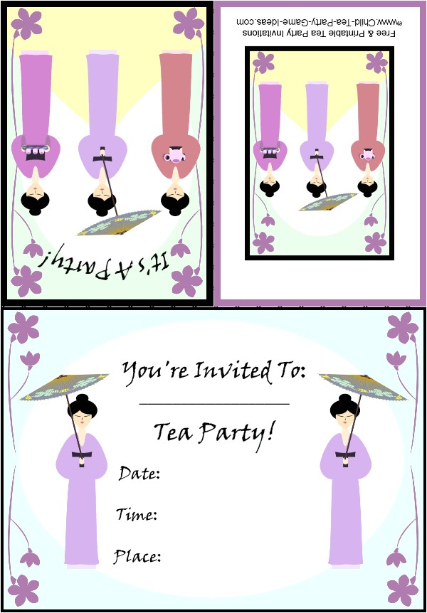 Japanese Tea Party Invitations Free Printable Tea Party Invitations Japanese