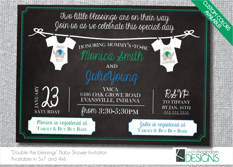 joint baby shower invitation custom