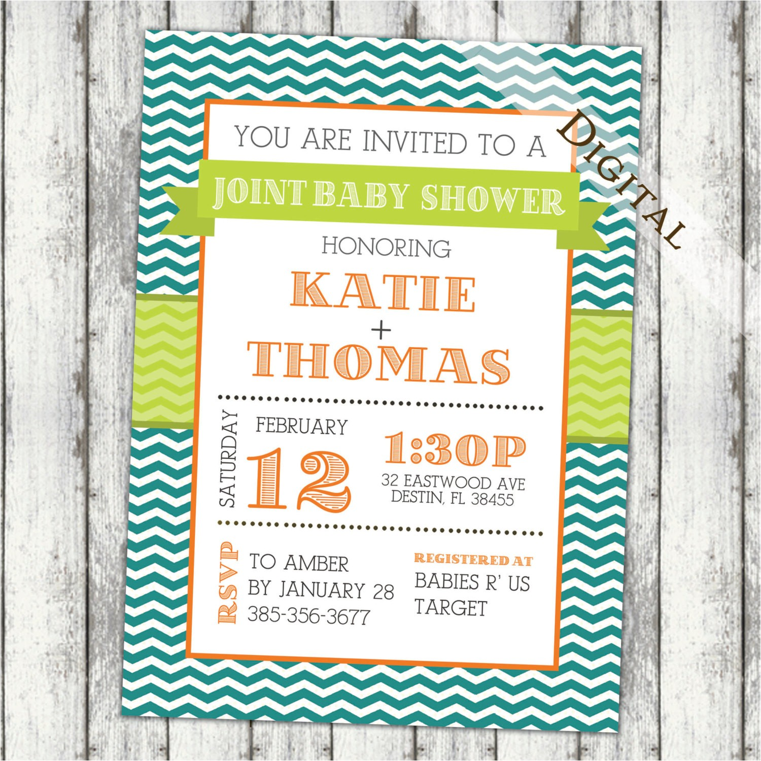 joint baby shower invitation couples