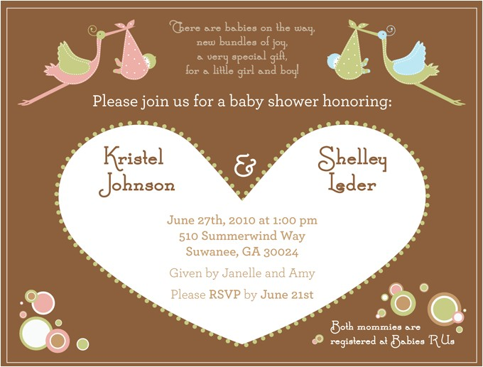joint baby shower invitations