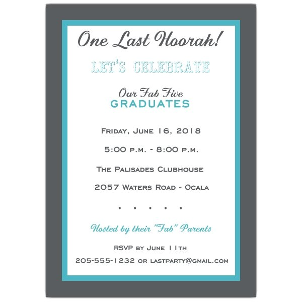 Choose Your Color Joint Graduation Party Invitations p 605 57 PSW7614