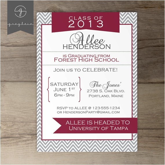 printable graduation invitation