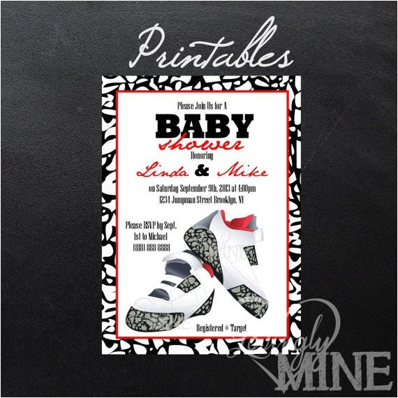 printable jordan jumpman inspired baby