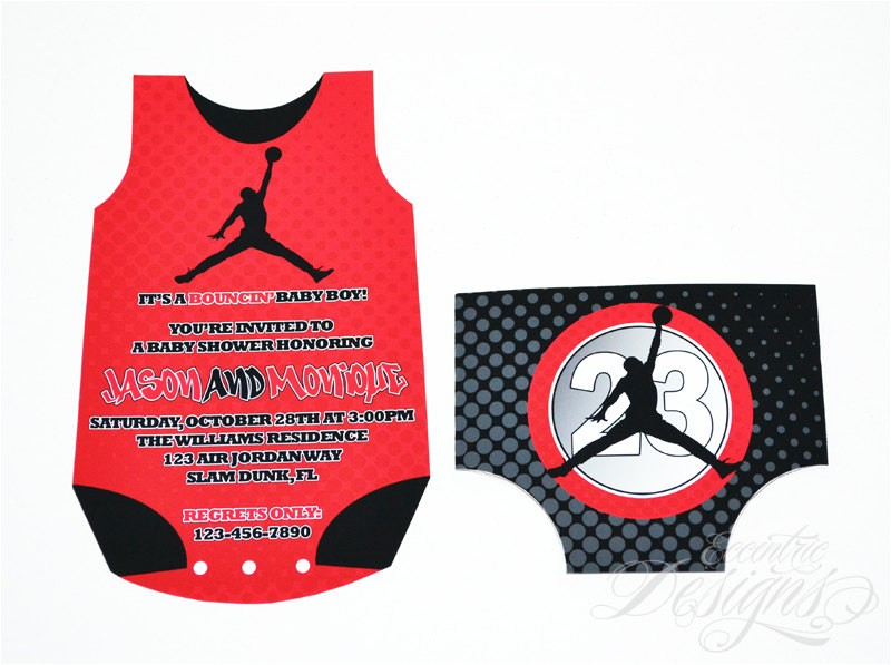 air jordan baby shower invitation you