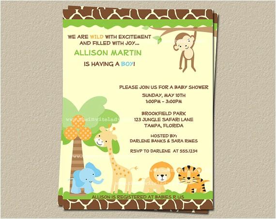 post jungle theme invitations free printable