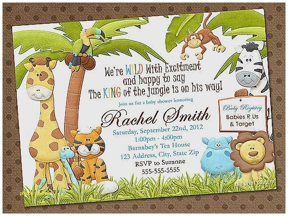 jungle theme baby shower invitation wording