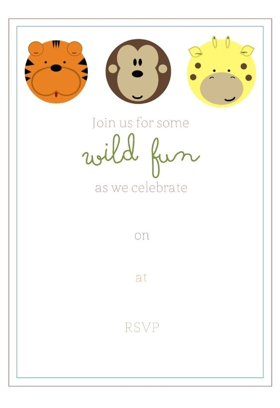 Jungle theme Birthday Invitations Free Printable Free Printable Jungle Party Invitation Birthday Party