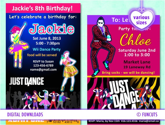 just dance wii party invitation various