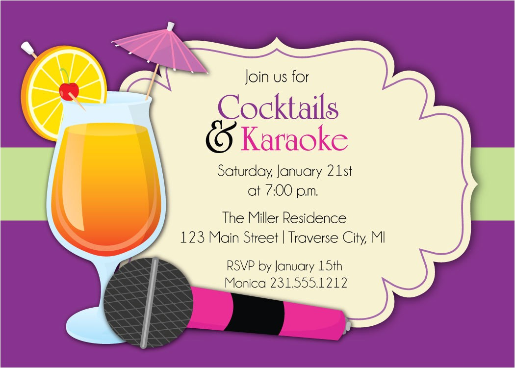 karaoke invitation cocktails karaoke