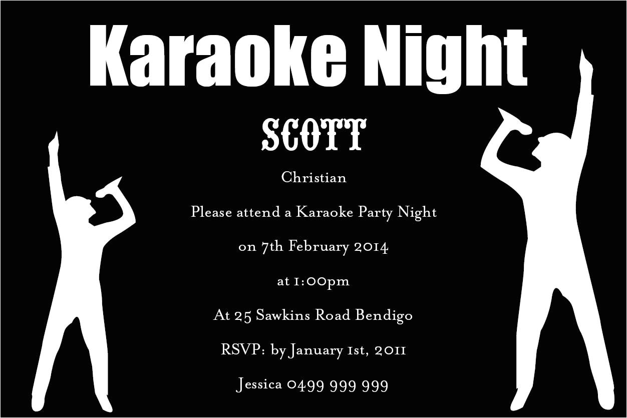 karaoke party invitation wording