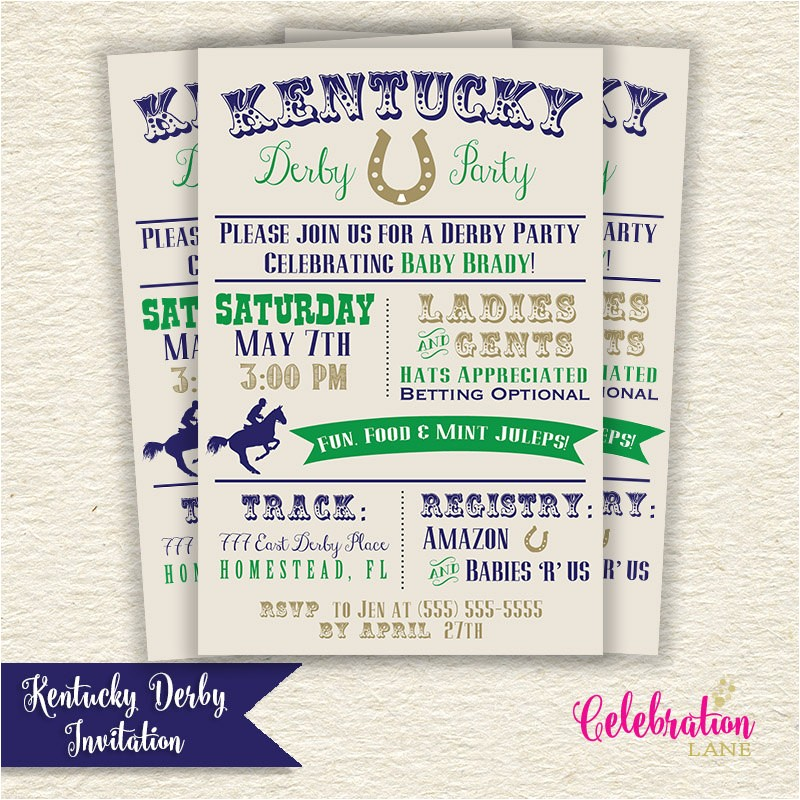 kentucky derby baby shower printable