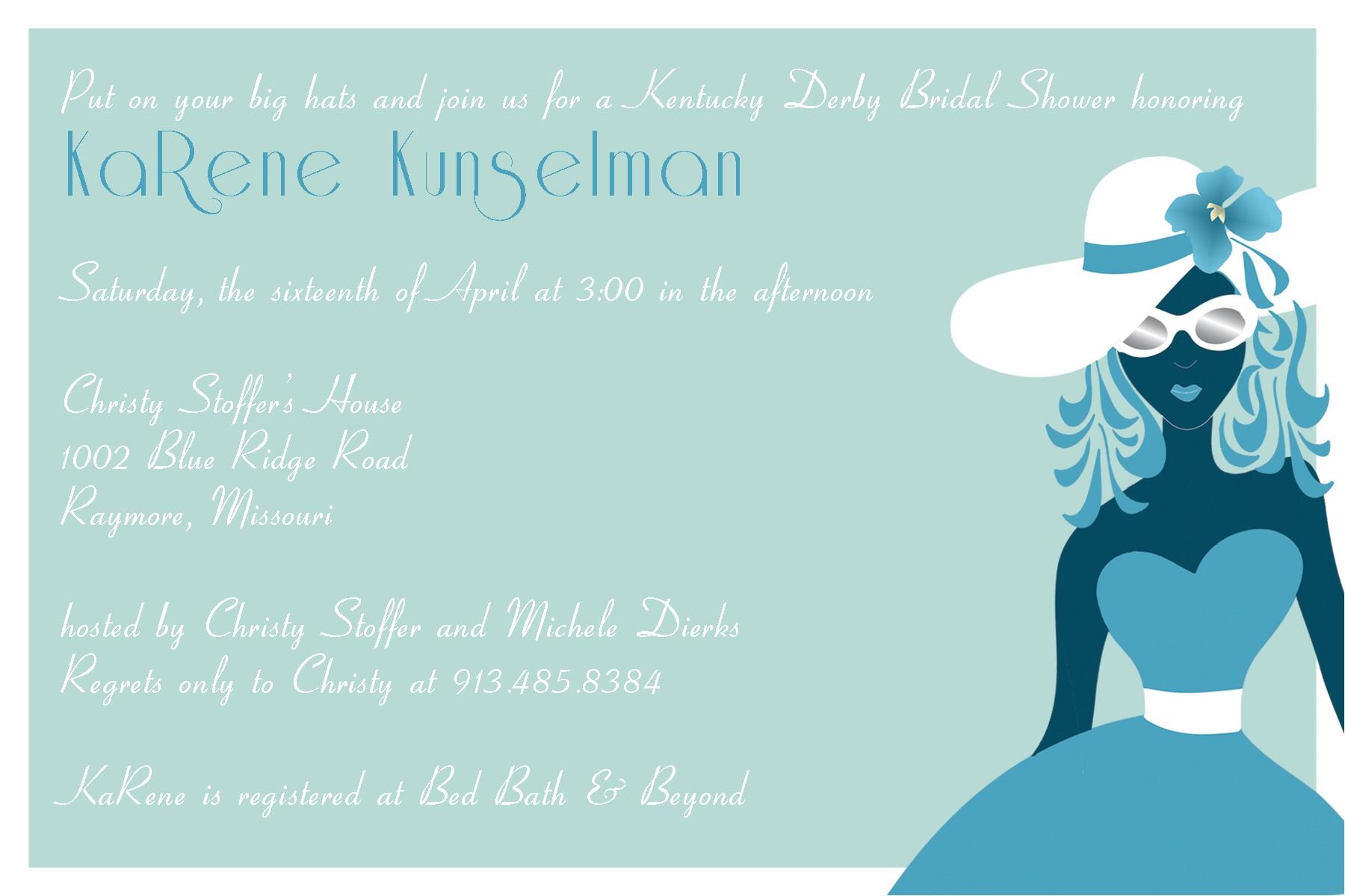 bridal shower invitations kentucky derby