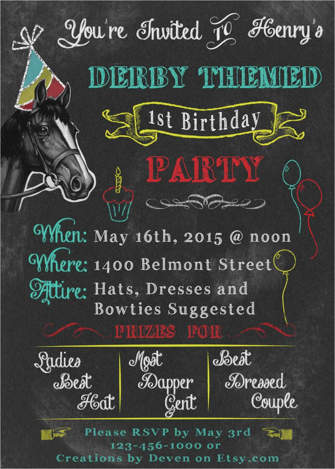kentucky derby themed birthday party