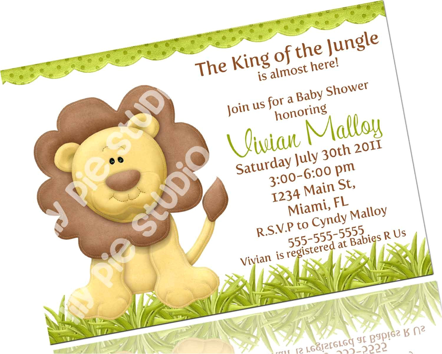 king of the jungle baby shower