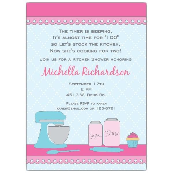 Kitchen Counter Shower Invitations p 642 57 024