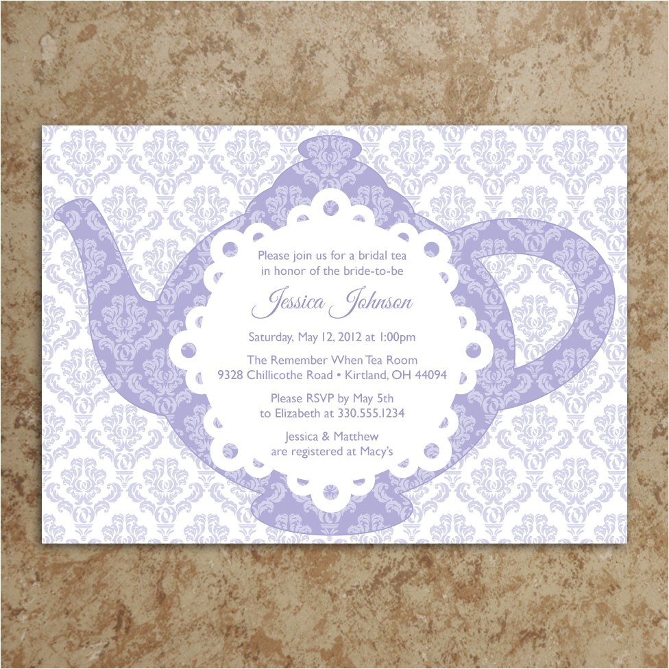 kitchen party invitation card samples