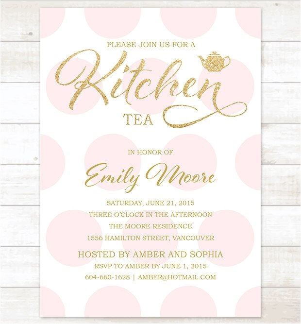 kitchen tea invitations
