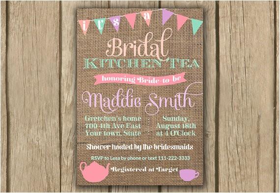 bridal shower invitation kitchen tea