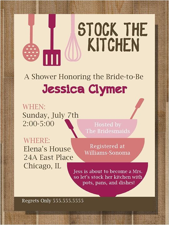 Kitchen themed Bridal Shower Invitations Best 25 Kitchen Bridal Showers Ideas On Pinterest