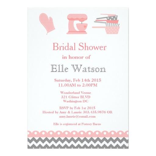 kitchen themed bridal shower invitations custom card 256894145724273232