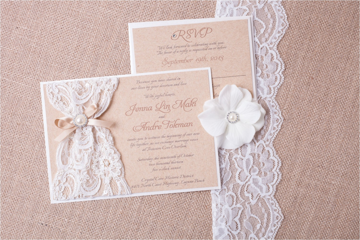 abigail burlap and lace wedding