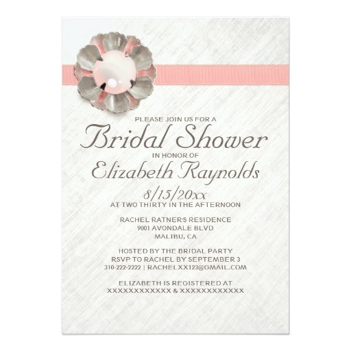 antique lace and pearl bridal shower invitations