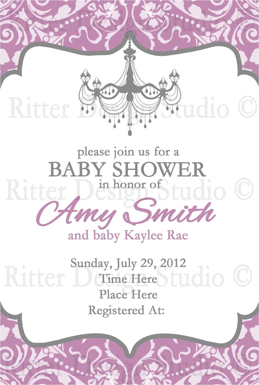 elegant baby shower invitation